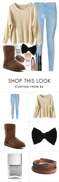 """""""Untitled #58"""" by itsfashionbyd ❤ liked on Polyvore featuring 7 For All Mankind, UGG Australia, claire's and Pieces"""