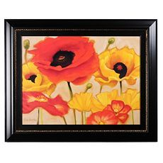 Poppies at Play Framed Print