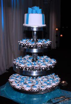 Cupcake wedding cake tower April 2013