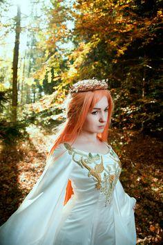 Credits here: www.facebook.com/SilverWolfieShizuma  #elf #elven #dress #medieval #elficka #suknia #goth #gothic #wedding #crown #circlet #jewelry #diadem #asuna #yuuki #cosplay #sao #swordartonline #lotr #lordoftherings #arwena #haft #beautiful #portrait #fashion #white #woods #bloodelf #bloodelves #elvenpath #las #krwawyelf #wow #wizard #magic #magical #silverwolfie #redhead #wig #lens #elvishdress #corset #pagan #cloak