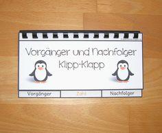 Klipp-Klapp Büchlein zu den Vorgänger- und Nachfolgerzahlen im Zahlenraum bis 20 in der Grundschule.