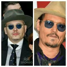 Adam Ant and Johnny Depp... twins? :-)