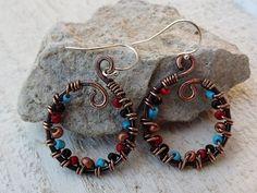 Artisan Handwrapped Copper Swirls