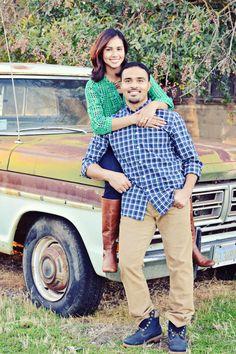 rustic old truck couple portrait photography love marriage elk grove sacramento