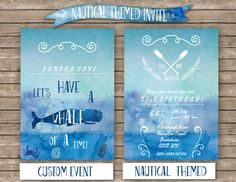 DIY Custom Nautical Themed Party Digital by LivisPrintables