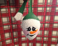 Spoon Snowgirl Ornament by RitziesCreations on Etsy