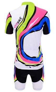 VEOBIKE Womens Short Sleeve Cycling Jersey Bicycle Bike Shorts Set XX-Large e30919a9c