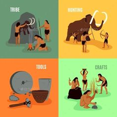 Download Free Graphicriver Prehistoric Stone Age 2X2 Images #age #ancient #animal #cave #caveman #collection #craft #era #fire #food #history #human #ice #idea #Inventor #lion #male #mammoth #masculinity #painting #prehistoric #rock #saber #skull #spear #stone #tool #tribe #wheel #wild