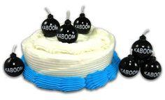 Kaboom Black Bomb Birthday Candles