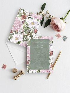 Wedding Invitation Template Floral Wedding Invite Printable