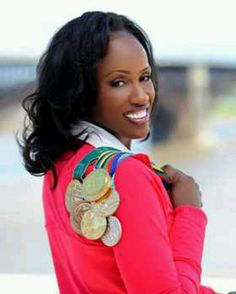 Jackie Joyner-Kersee is an American retired track and field athlete, ranked among the all-time greatest athletes in the women's heptathlon as well as in the women's long jump Olympic Medals, Olympic Sports, Olympic Games, American Athletes, Female Athletes, Jackie Joyner Kersee, Heptathlon, Long Jump, Sports Marketing