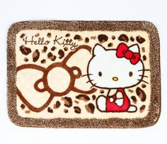 Hello Kitty Floor Mat: Leopard