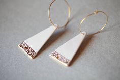 Ready to ship porcelain earrings