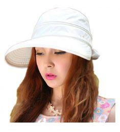 Woman s Baseball caps Fashion Ladies Bowknot Dual Purpose Two USES Hat Sun  Visor Summer Beach Hat White CT11Y65CRGH 0505a046d338