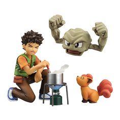 Pokemon G.E.M. Figure Brock With Geodude & Vulpix - Pokemon Action Figures Brock Pokemon, Pokemon Toy, Cool Pokemon, Pikachu, Charmander, Pokemon Games, Diy Fimo, Anime Figurines, Nerd