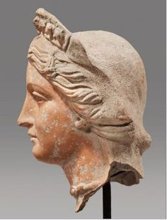 Head of Aphrodite statue - made in Terracotta, Hellenistic period, circa 2nd-3th c. BCE