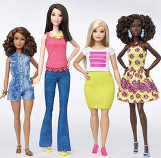 Novos modelos da boneca Barbie lançados nesta quinta-feira (28) (Foto: Divulgação/Barbie)