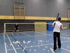 Badminton Training: Übung für Timing Start im Badminton (rhythm exercise for badminton footwork) - YouTube