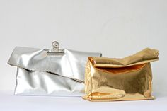 Foil Lunch Bags - inspirered by Acne's new gorgeous Oxide Metallic Handbag.