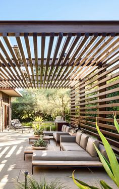 Backyard Patio Designs, Pergola Designs, Pergola Patio, Gazebo, Modern Backyard Design, Outdoor Rooms, Outdoor Living, Patio Chico, Modern Pergola