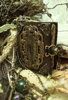 Beautiful old clasped book