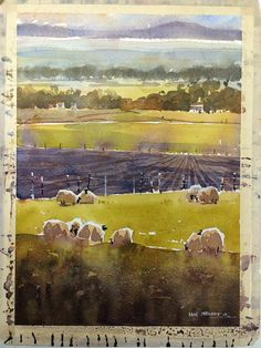 Iain Stewart Demo 2 for the Sangamon Watercolor Society. A familiar image, but a good teaching demo. Hey, I enjoy painting sheep. That's it.