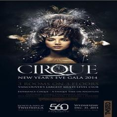 Cirque Gala NYE 2015 at 560 Nightclub, 560 Seymour Street, Vancouver British Columbia, V6B 3J5, Canada on Dec 31, 2014 to Jan 01, 2015 at 9:00pm to 4:00am. Twisted presents: Cirque Gala - NYE 2015. Ring in the new year in style at Vancouver's premier nightclub. Featuring the city's best house, progressive, trap & trance DJs, Cirque performance artists, 2 floors of music + a VIP Mezzanine level.  URL: Booking: http://atnd.it/18708-1  Category: Nightlife, Price: See Website.