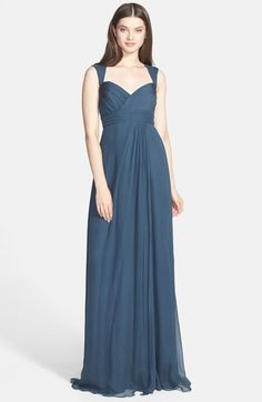 Amsale Crinkled Silk Chiffon Gown available at #Nordstrom