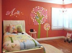 Custom Listing for ProvidenceCarey Colorful Tree and by NouWall