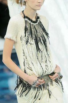 Chanel Fall 2010 RTW Feather Bib Necklace