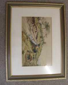 Cornelius Pearson, British Artist, born 1805, died 1891. Here we have an original signed, framed and glazed Cornelius Pearson watercolour dated 1880 showing a flock of sheep being herded down a country lane. Overall size measures 25 inches x 22 inches.