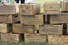 wooden boxes.  these can be used for crates shelving on casters