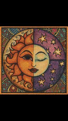 Sun and moon tattoo idea (solis and Luna)