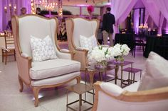Gorgeous Hunt Wingback Chair #pleasebeseated #event #wedding #furniture #luxury