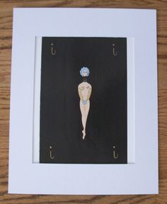 Erte Bookplate Print Alphabet Collection Letter X Masked Skeleton