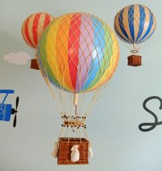 Gender Neutral Twins Nursery with hot air balloons as inspiration