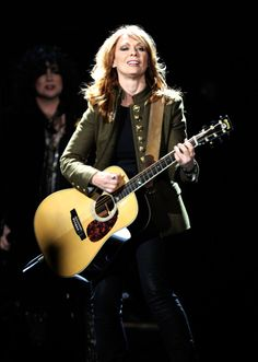 ~ Nancy Wilson Musician Nancy Wilson of the band Heart performs onstage ...