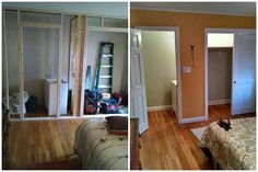 Half bathroom and closet addition to a master bedroom BPKELCO-Boston area