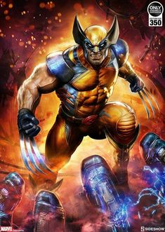 Marvel Wolverine Art Print by Sideshow Collectibles Wolverine Comics, Rogue Comics, Marvel Comics Art, Logan Wolverine, Marvel Heroes, Wolverine Tattoo, Wolverine Movie, Comic Book Characters, Comic Character