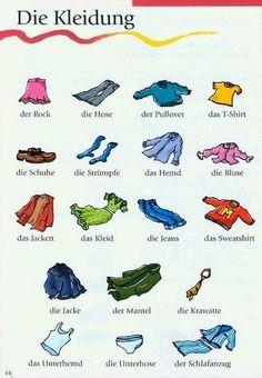 German vocabulary - Die Kleidung / Clothes