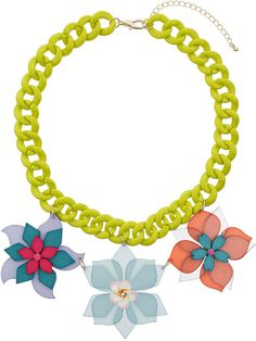 Topshop Chunky Multicoloured Flower Necklace on shopstyle.com