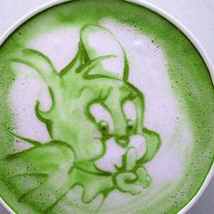 Matcha Green Tea Latte Art  #Matcha  #RedLeafTea