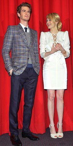 Spiderman stars: Emma Stone, Andrew Garfield : People.com