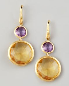 Jaipur Drop Earrings by Marco Bicego at Neiman Marcus. Just adorable.... anniversary coming soon