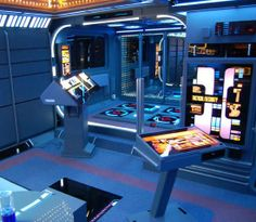 13 geek caves where fans can live out their nerdiest dreams | DVICE Geek Cave, Home 21, Geek Decor, Starship Enterprise, Star Trek Universe, Interior Exterior, Home Theater, Apartment Design, Property For Sale