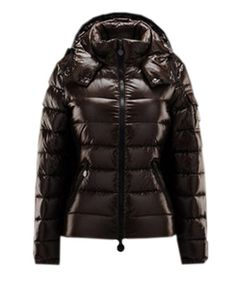 Moncler Bady Winter Women Down Jacket Zip Hooded Brown! Only $226.9USD