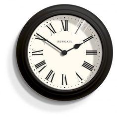 Newgate Clocks Nantucket Black Metal Wall Clock
