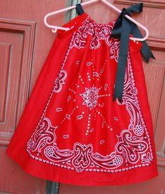 Bandanna Dress/Swing Top with Rhinestone by EverythingElizabeth, $15.00