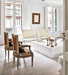 white setting in living room.