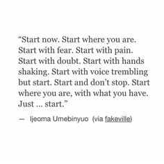 Wherever you are, just start. #recovery
